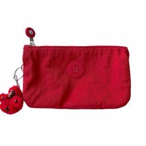 Kipling Red Creativity Wristlet Clutch Pouch